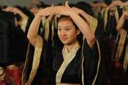 Anhui Artistic Vocational College student held Adult Ceremony wearing Han custom