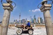 Reconstruction project of riverside along Bund in Shanghai begins