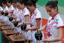 Art performance of tea culture