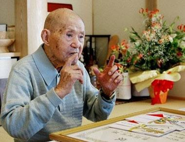 TomojiTanabe(picturedlastSeptember),theworld'soldestman,diedattheageof113,onJune18.Tanabe,whosufferedfromachronicheartproblem,passedawaywithhisrelativesathisbedside.(AFP/File)