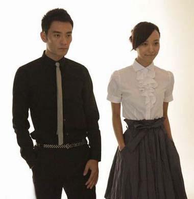 "LiGuangjie(L)andWangLuodanwillstarinTVdrama""DuLaLala'sPromotion"".[Photo:ent.sina.com.cn]"
