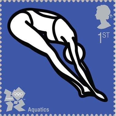 Royal Mail first class postage stamps launched for London 2012