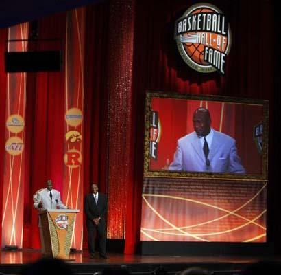 michael jordan basketball hall of fame