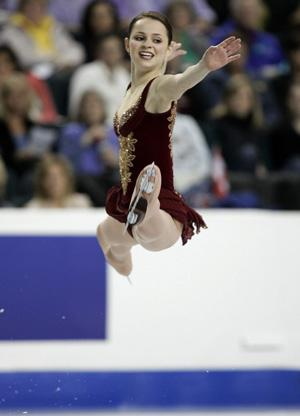 Sasha Cohen Of The US Performs Her Free Skate At World Figure Skating Championships In
