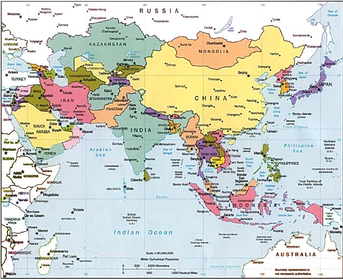 Map Of Asia Today.Cctv English Channel Asia Today